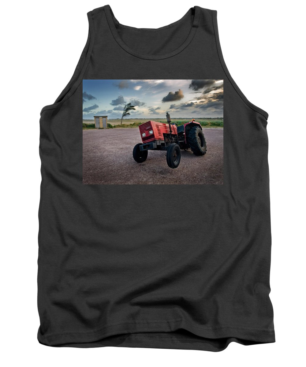 Three Tank Top featuring the photograph Three Wheeled Tractor by Andy Linden