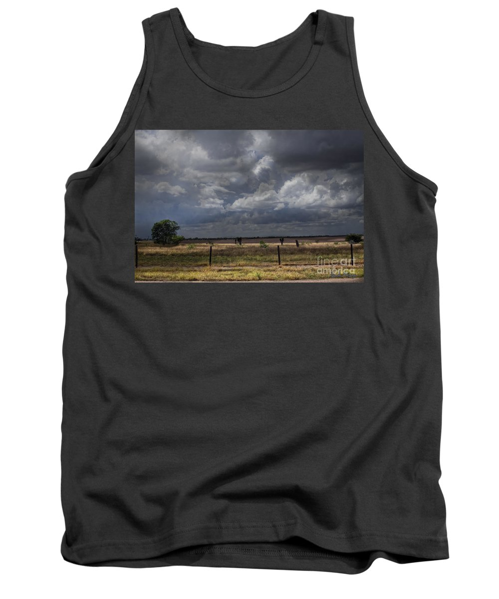 Hdr Tank Top featuring the photograph Thunder In The Distance by Dinah Anaya