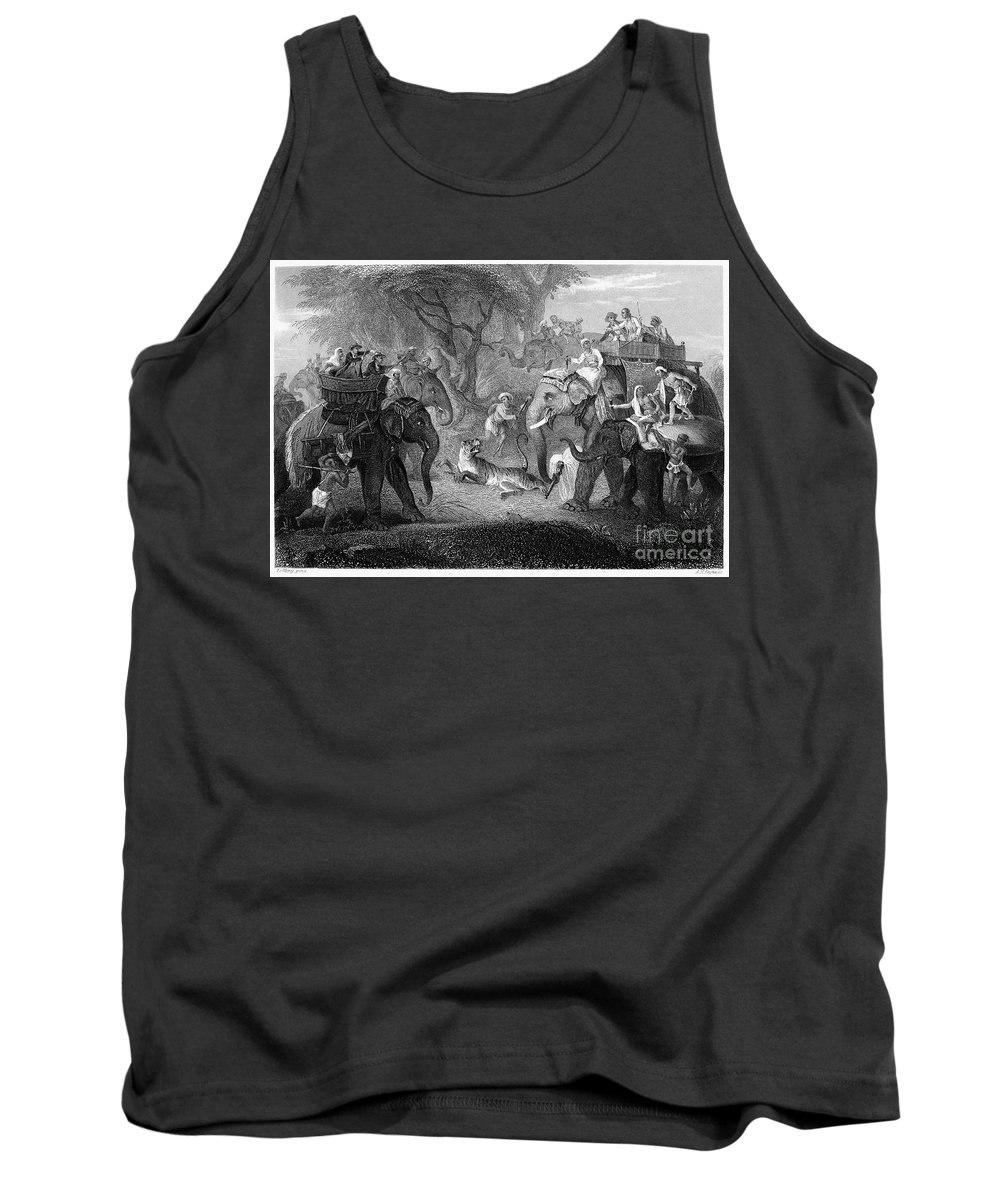 19th Century Tank Top featuring the photograph Tiger Hunt, 19th Century by Granger