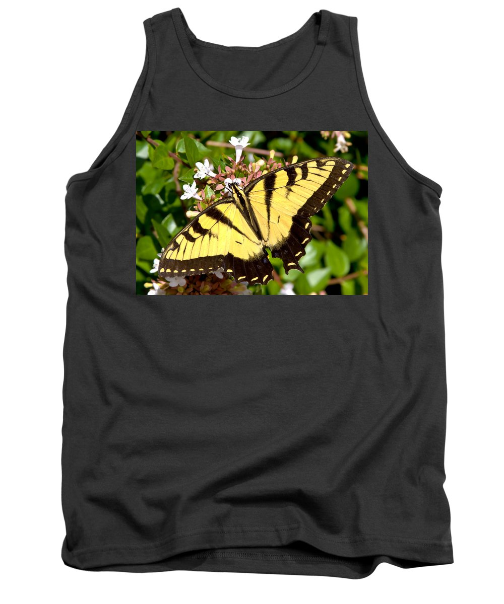 Butterfly Tank Top featuring the photograph Tiger Swallowtail by Lynne Jenkins
