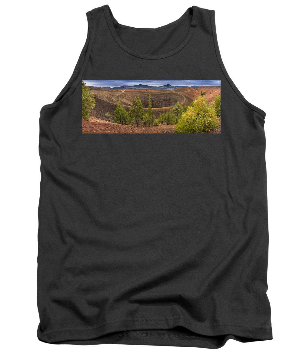 Lassen Volcanic National Park Tank Top featuring the photograph Top Of Cinder Cone by Greg Nyquist