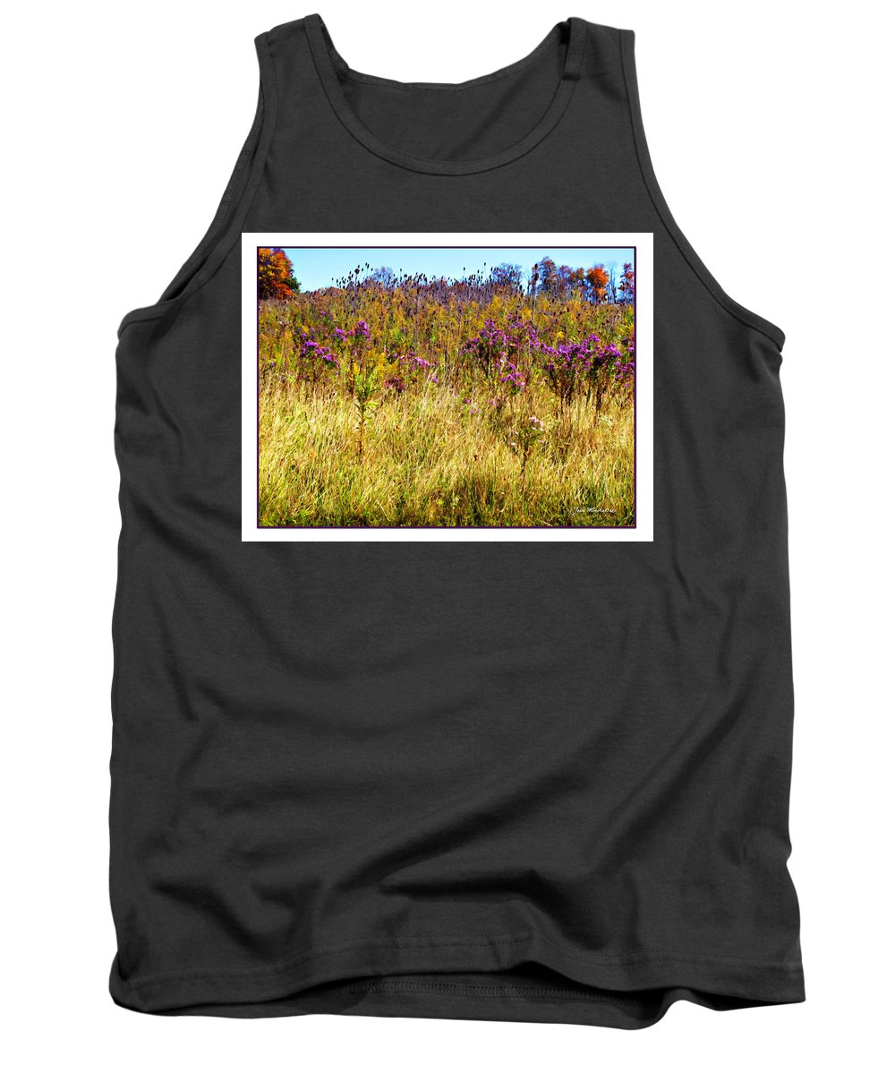 October Tank Top featuring the photograph Touch Of Purple In October by Joan Minchak