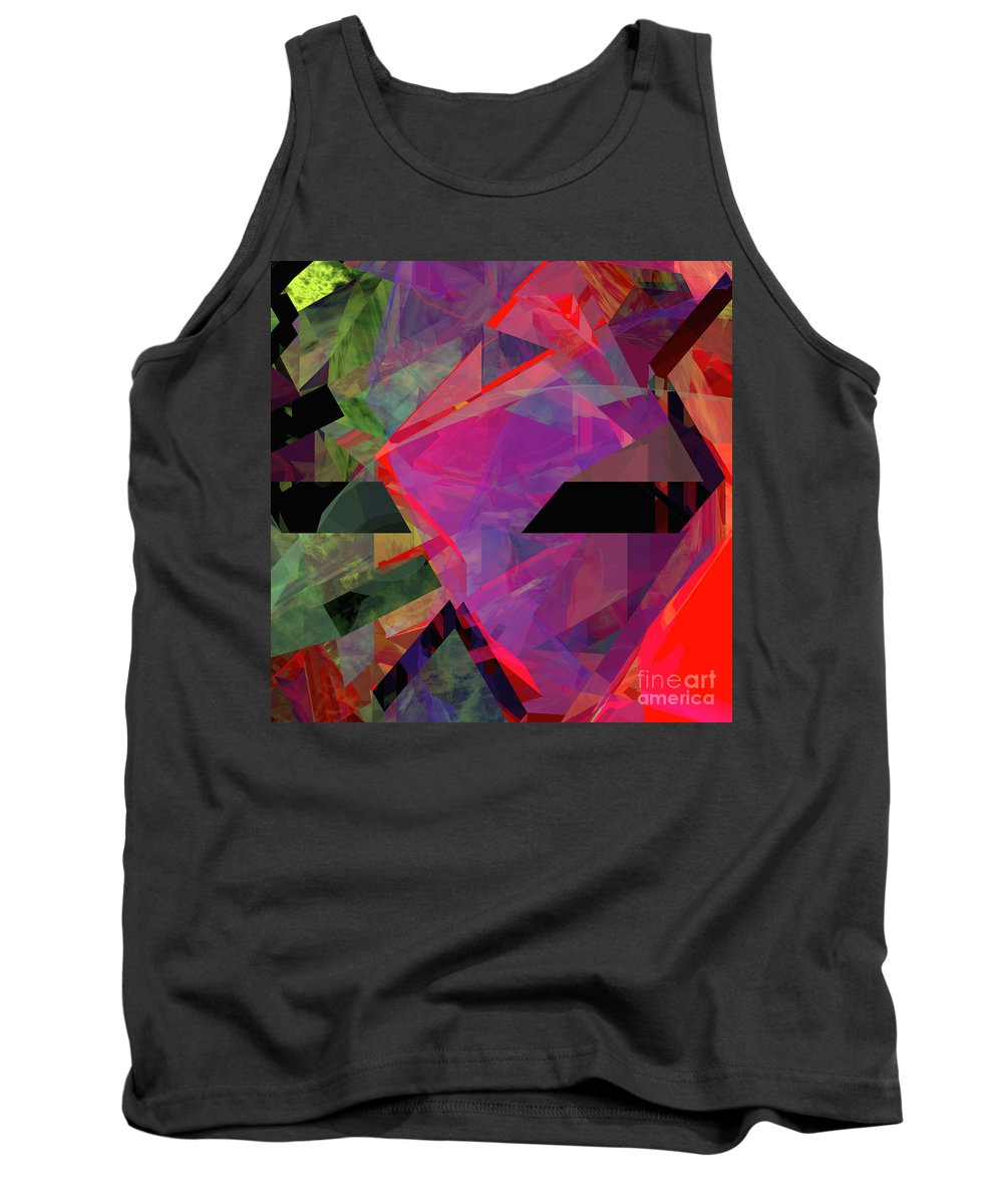 Abstract Tank Top featuring the digital art Tower Series 25 by Russell Kightley