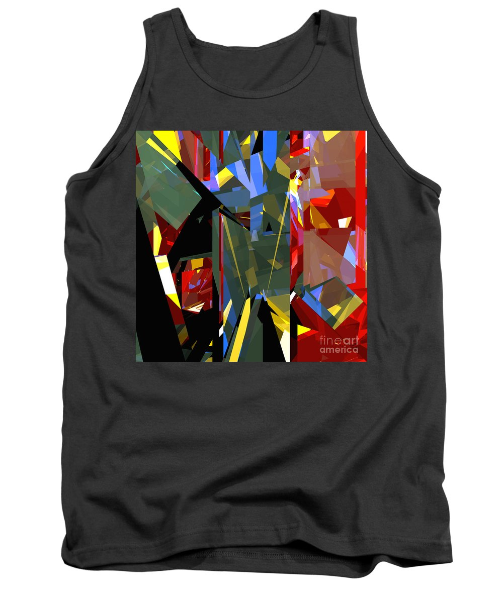Abstract Tank Top featuring the digital art Tower Series 46 by Russell Kightley