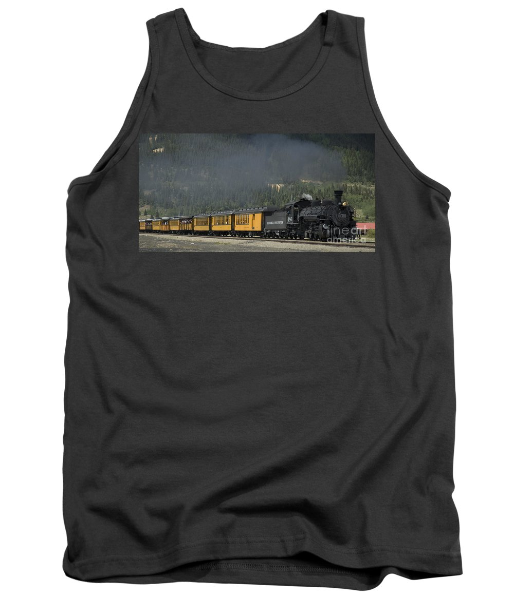 Cumbres & Toltec Tank Top featuring the photograph Trainload Of Tourists by Tim Mulina