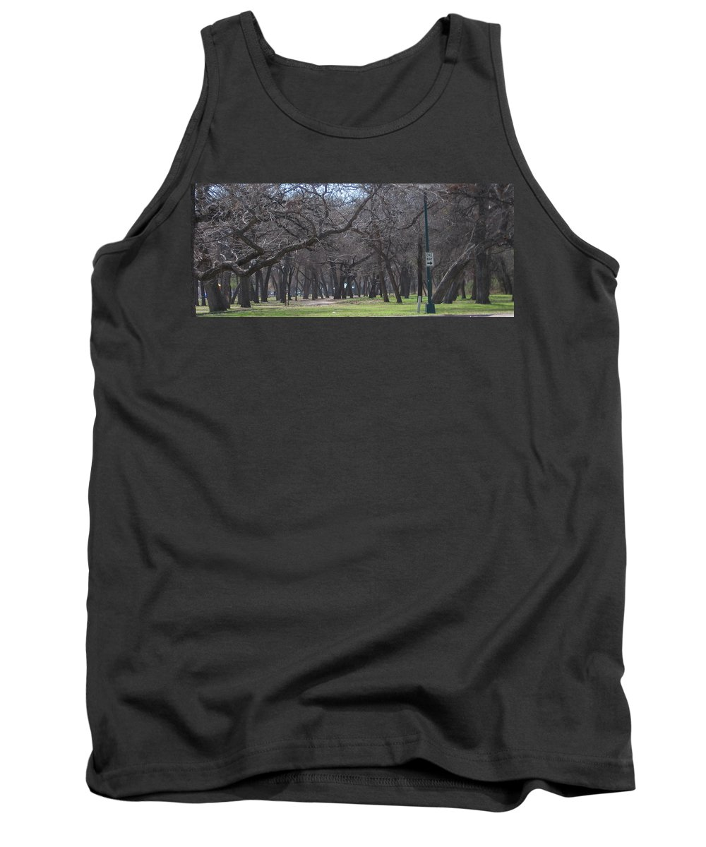Park Tank Top featuring the photograph Trinity Park Ft Worth Tx by Amy Hosp