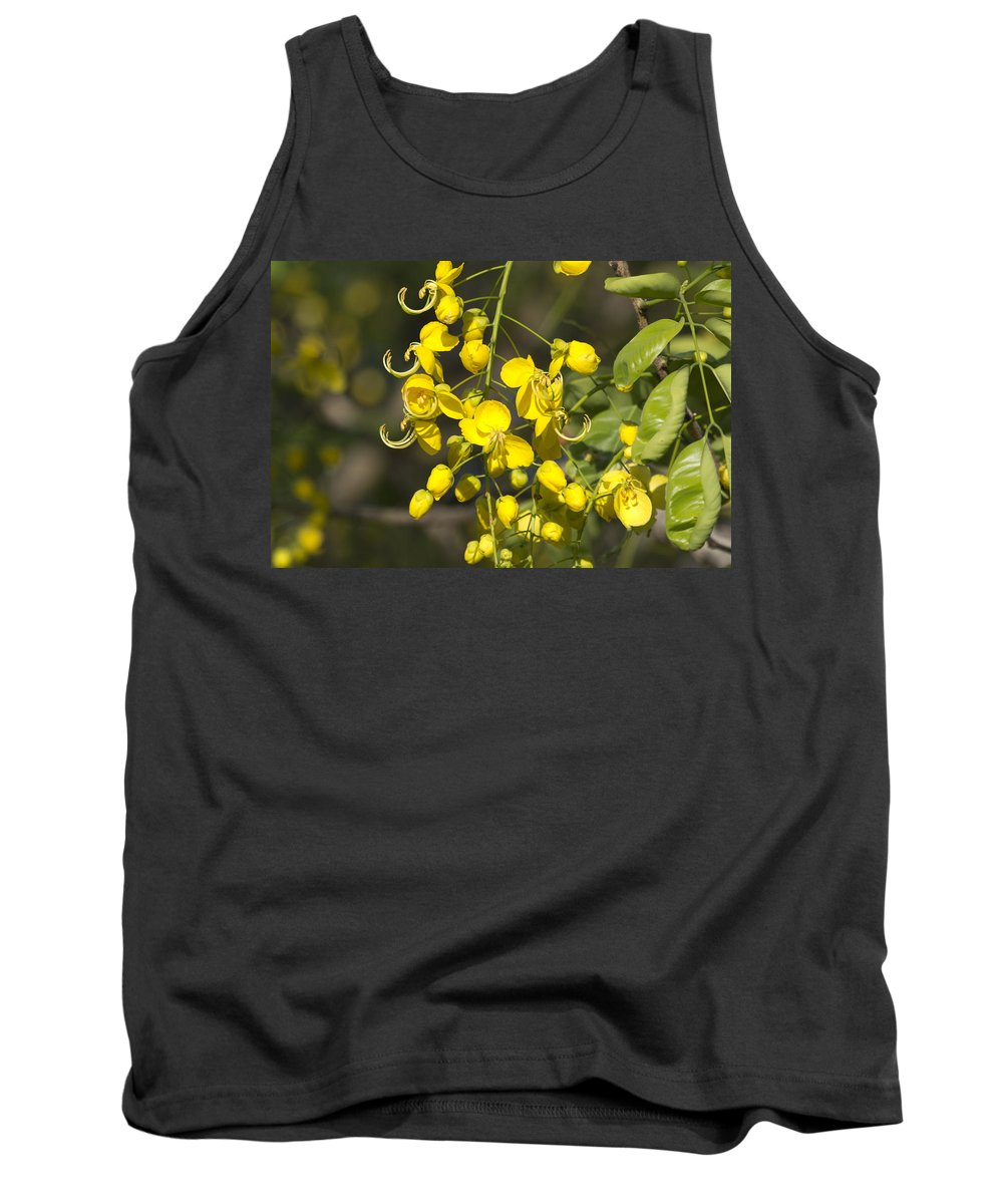 Tropical Yellow Tank Top featuring the photograph Tropical Yellow Flowers by Douglas Barnard