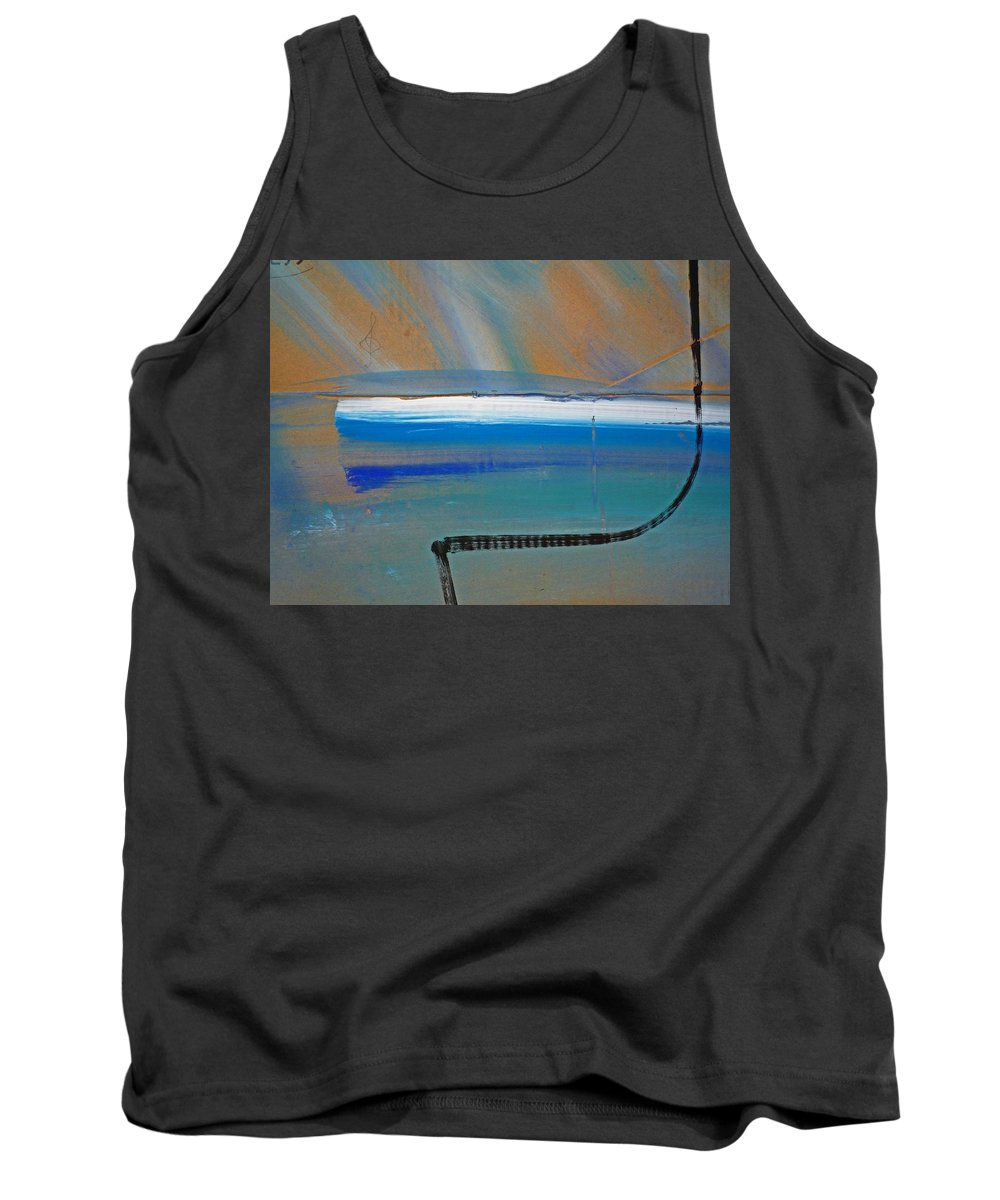 Tsunami Tank Top featuring the painting Tsunami Wave by Charles Stuart