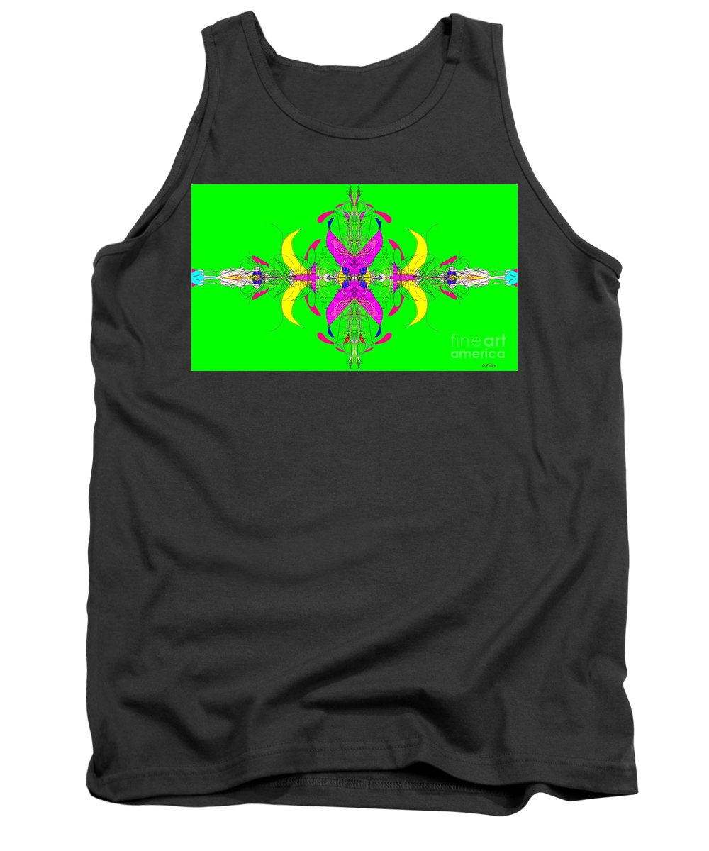 Fractal Tank Top featuring the digital art Tug Of War by George Pedro