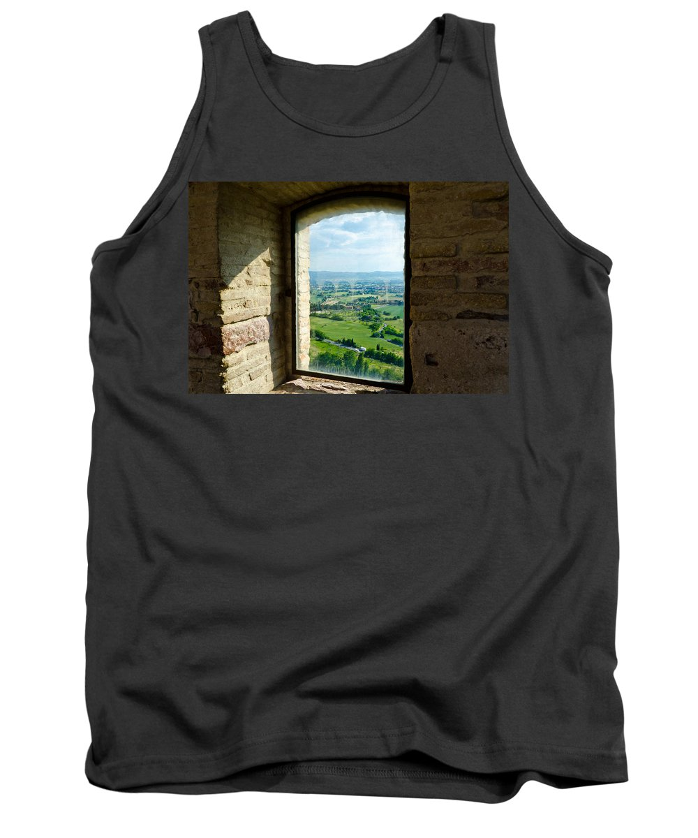 Valley Tank Top featuring the photograph Valley View by Jon Berghoff