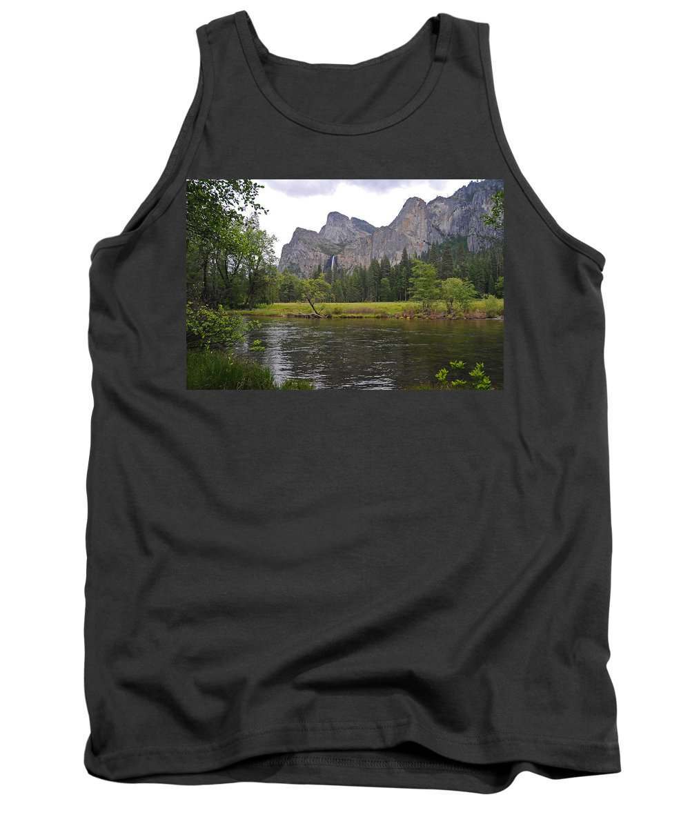 Yosemite Tank Top featuring the photograph Valley View Of Bridalveil Falls by Lynn Bauer