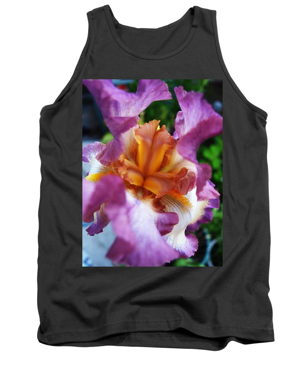 Iris Tank Top featuring the digital art Vibrant Beauty by Teri Schuster
