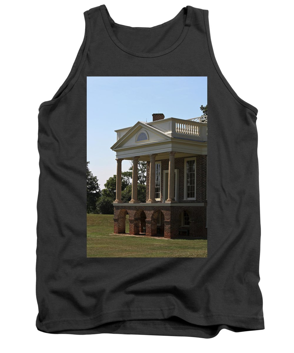 Poplar Forest Tank Top featuring the photograph View Of South Portico At Poplar Forest by Teresa Mucha