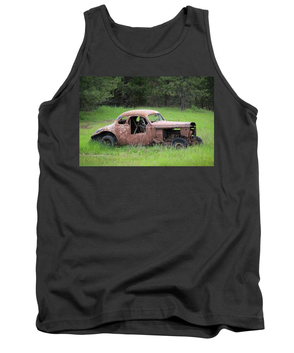 Vintage Tank Top featuring the photograph Vintage Racer by Steve McKinzie
