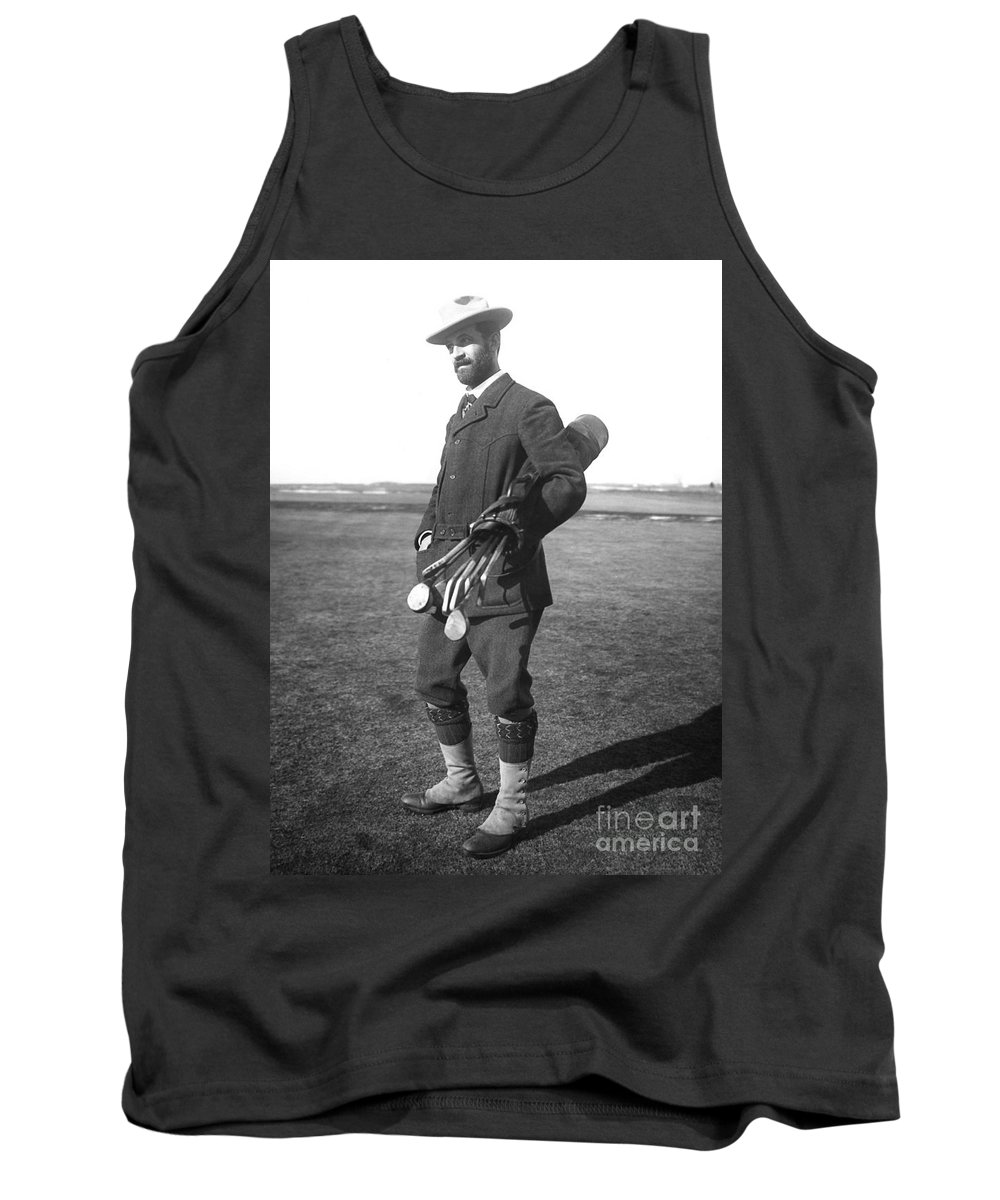 1910 Tank Top featuring the photograph Walter Travis (1862-1927) by Granger