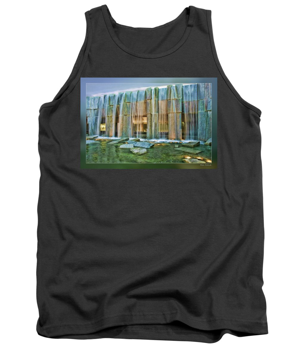 Art Photography Tank Top featuring the photograph Water Fall Building by Blake Richards