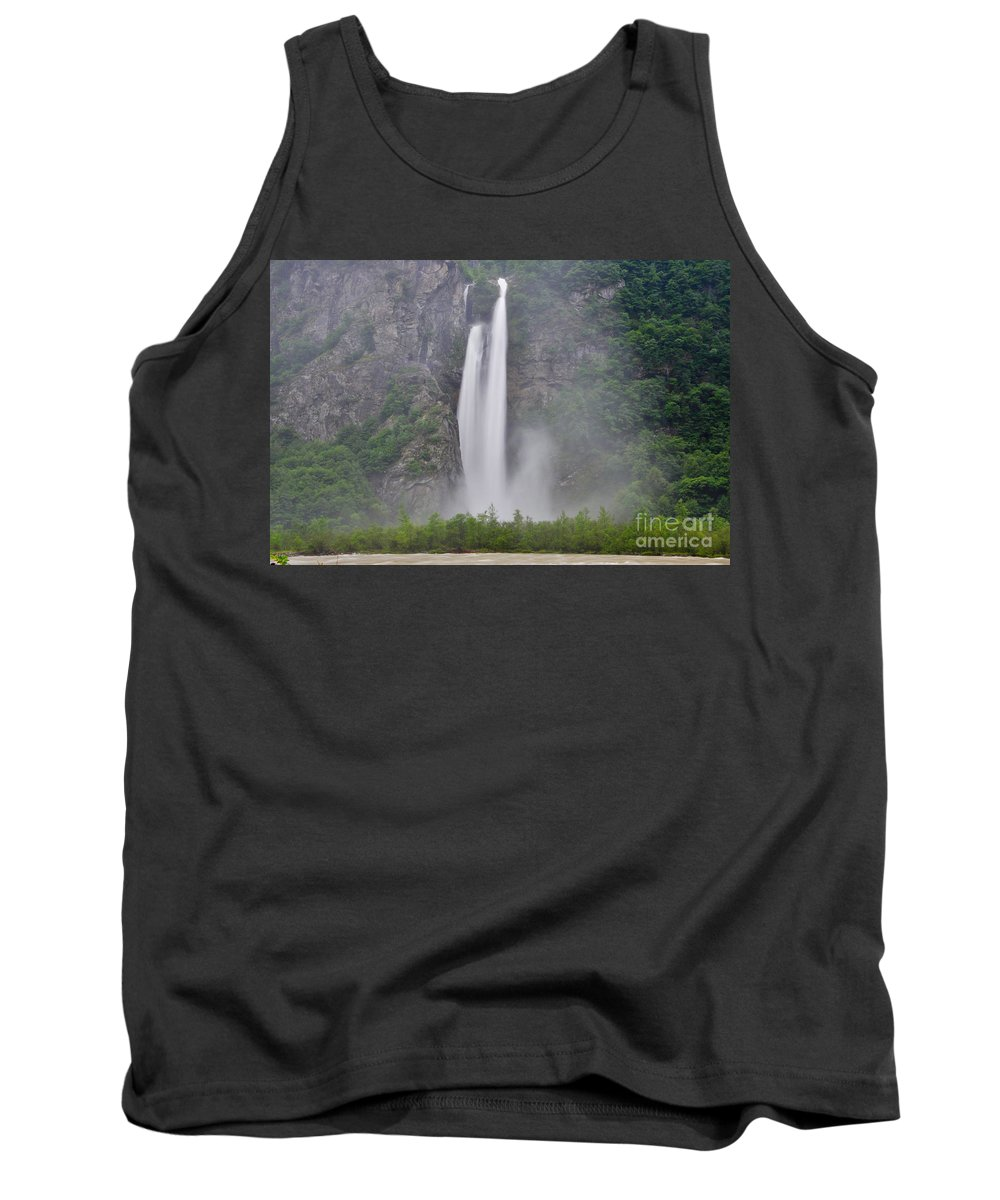 Water Fall Tank Top featuring the photograph Water Fall by Mats Silvan