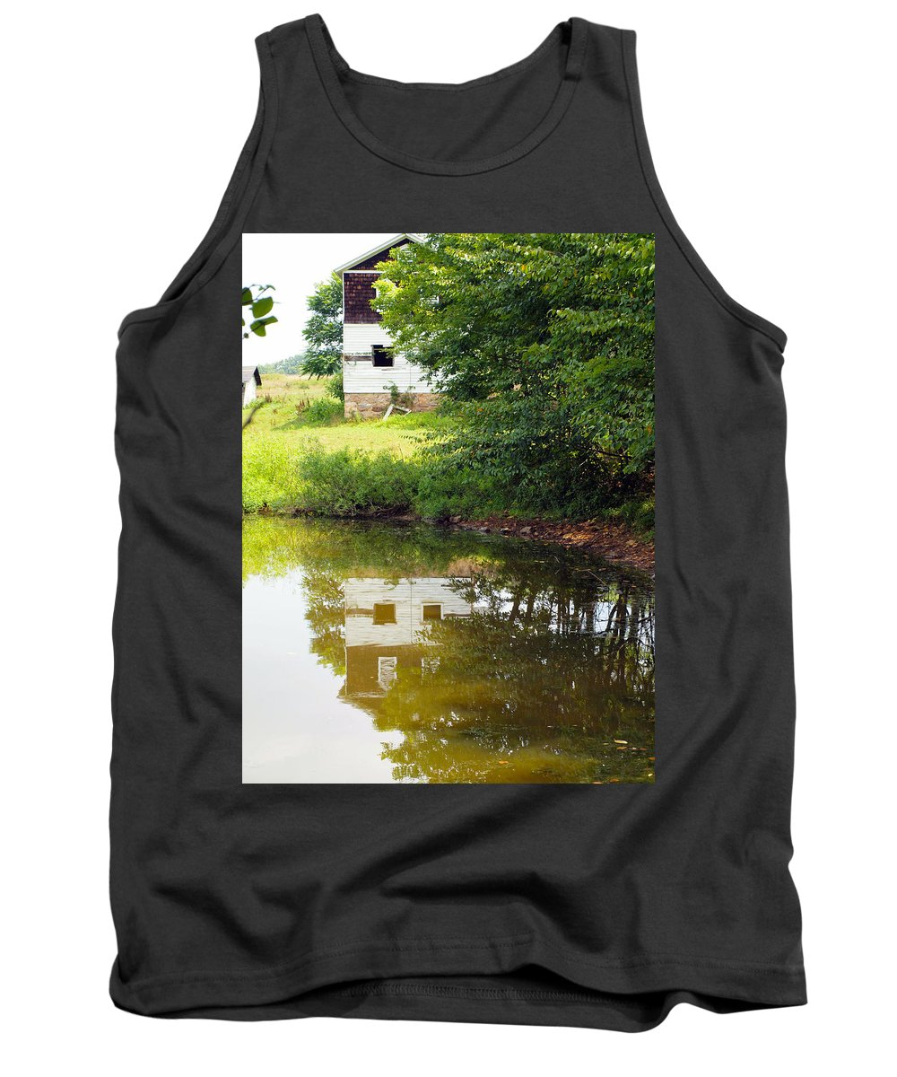 Farm Animals Tank Top featuring the photograph Water Reflections by Robert Margetts