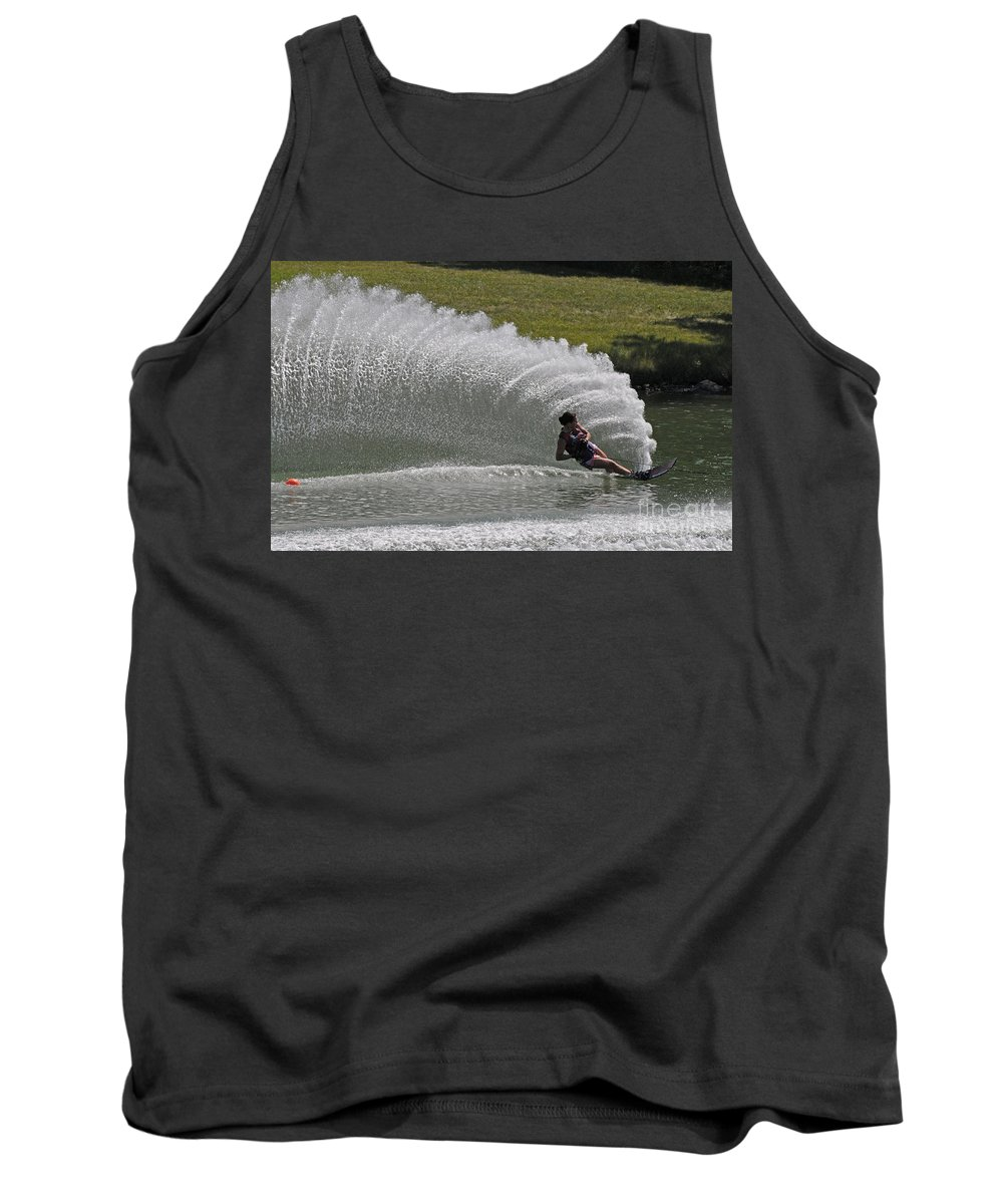 Water Skiing Tank Top featuring the photograph Water Skiing 19 by Vivian Christopher