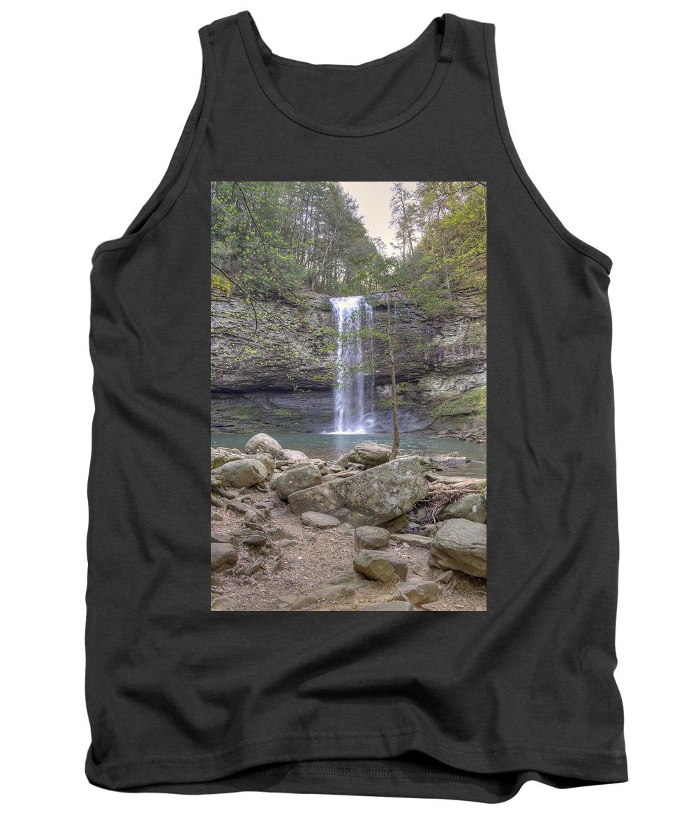 Waterfall Tank Top featuring the photograph Waterfall by David Troxel