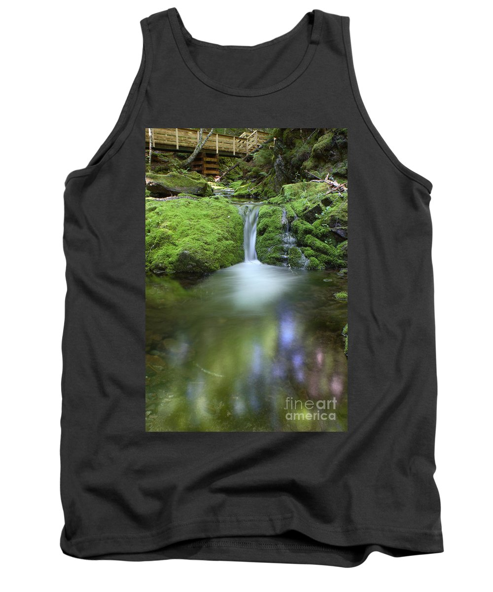 Waterfall Tank Top featuring the photograph Waterfall by Ted Kinsman