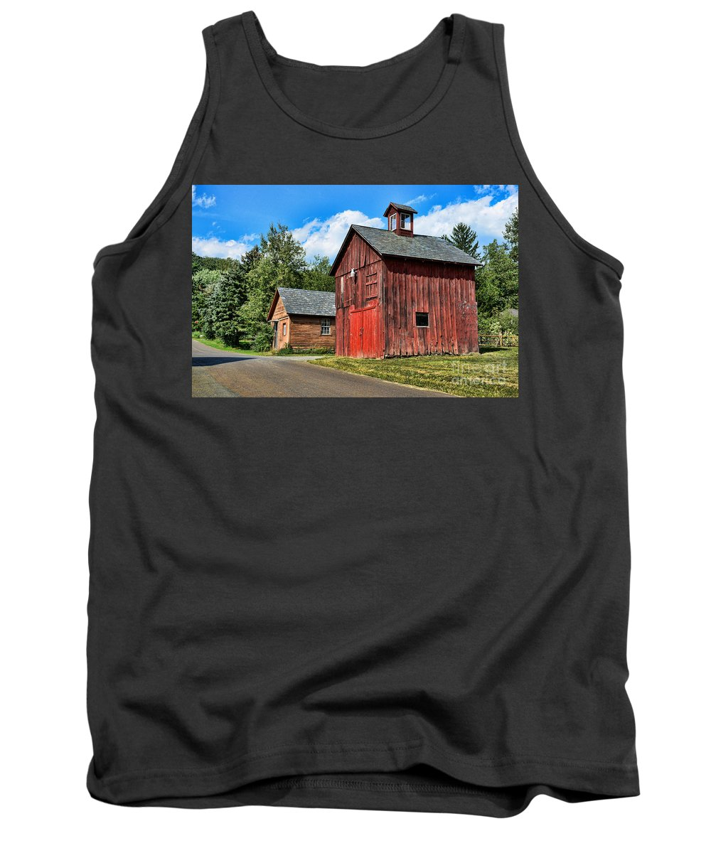 Weathered Red Barn Tank Top featuring the photograph Weathered Red Barn by Paul Ward
