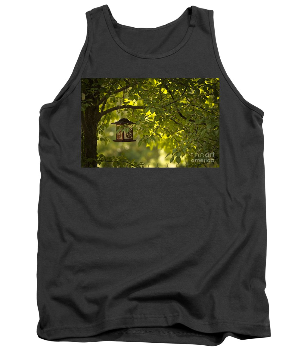 Trees Tank Top featuring the mixed media Welcome Feather Friends by Kim Henderson