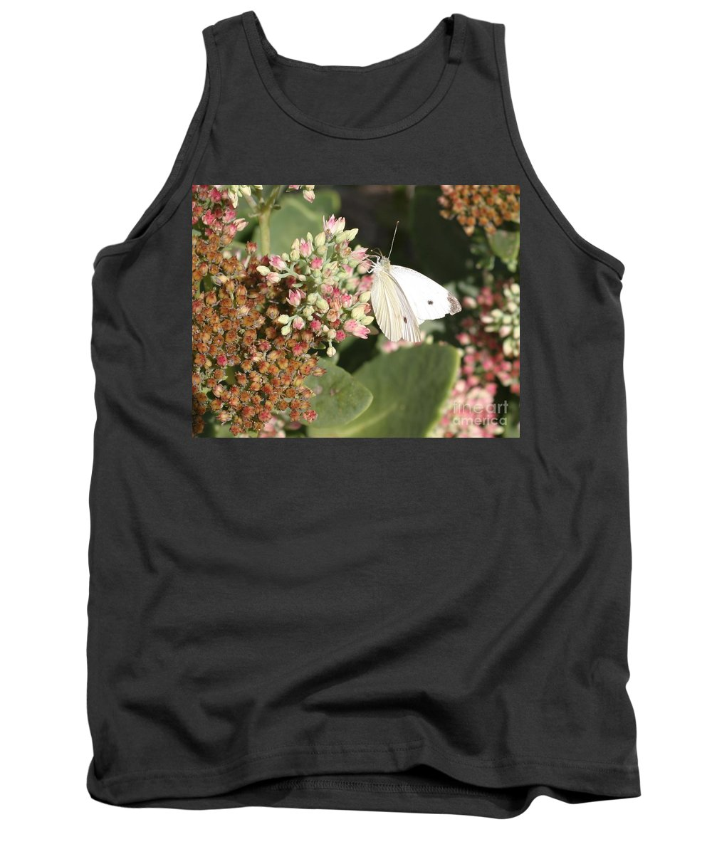 Butterfly Tank Top featuring the photograph White Cabbage by Living Color Photography Lorraine Lynch