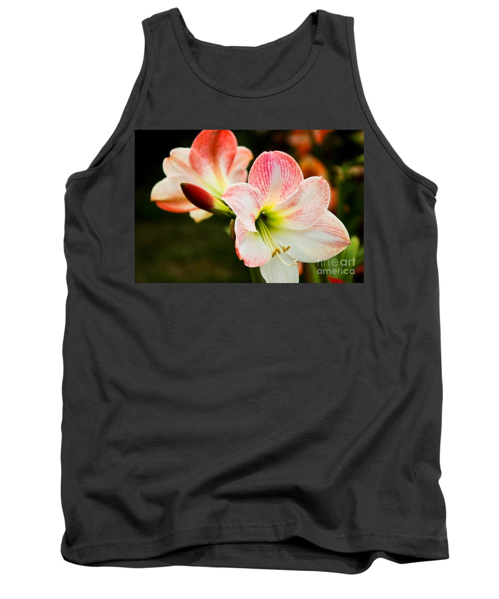 Flower Tank Top featuring the photograph White N Pink by Syed Aqueel
