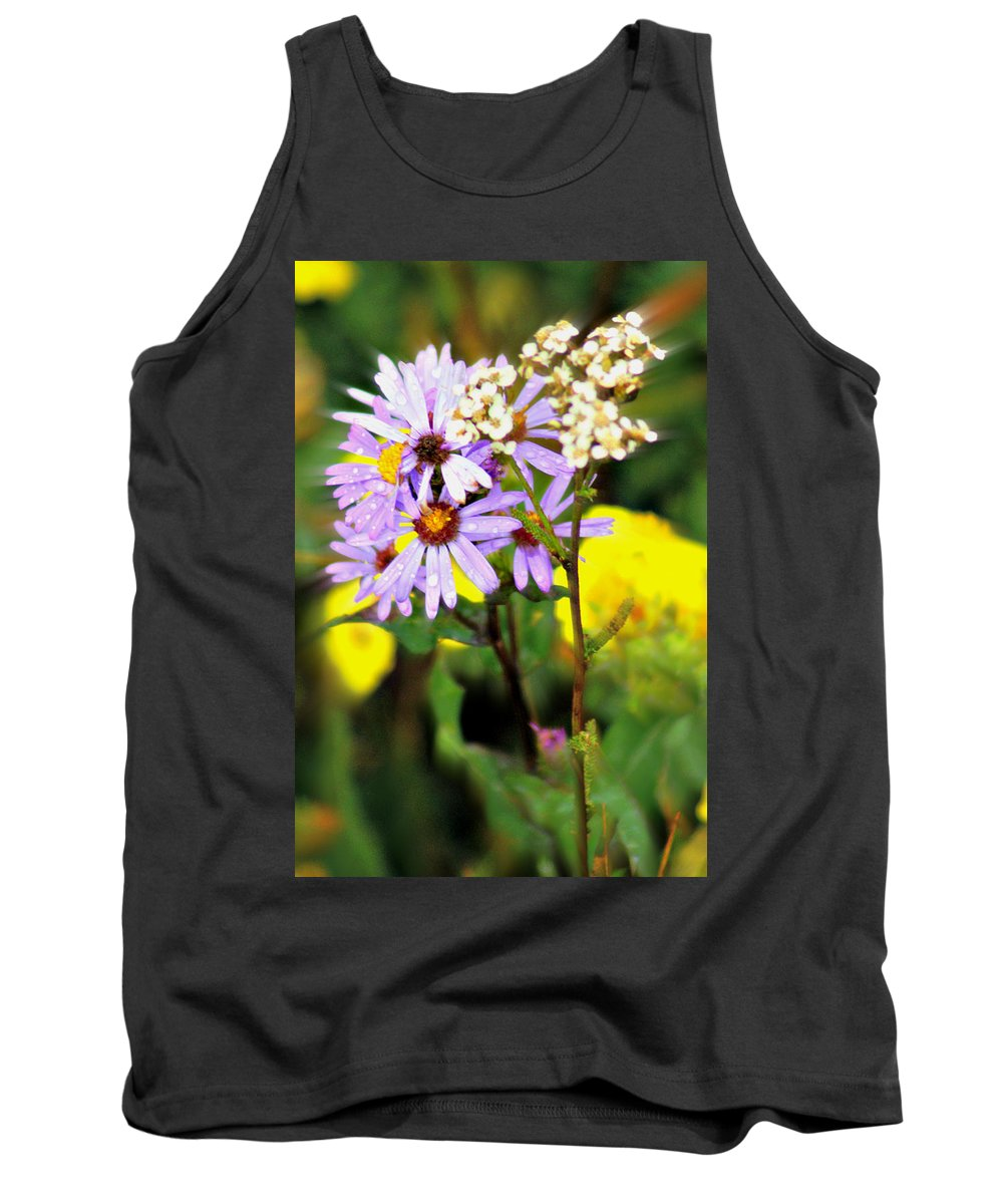 Flower Tank Top featuring the photograph Wild Floral by Marty Koch