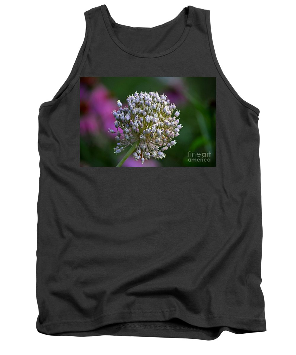 Color Photography Tank Top featuring the photograph Wild Garlic by Sue Stefanowicz