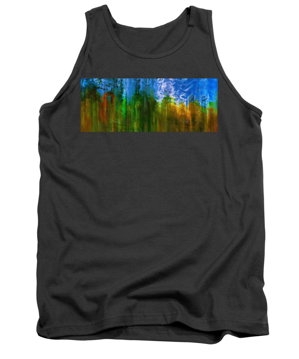 Abstract Tank Top featuring the mixed media Windmills In My Mind by Georgiana Romanovna