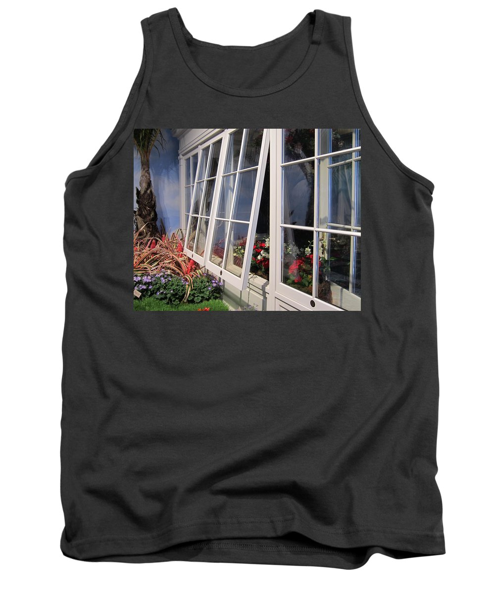 Windows Tank Top featuring the photograph Windows by Stefa Charczenko
