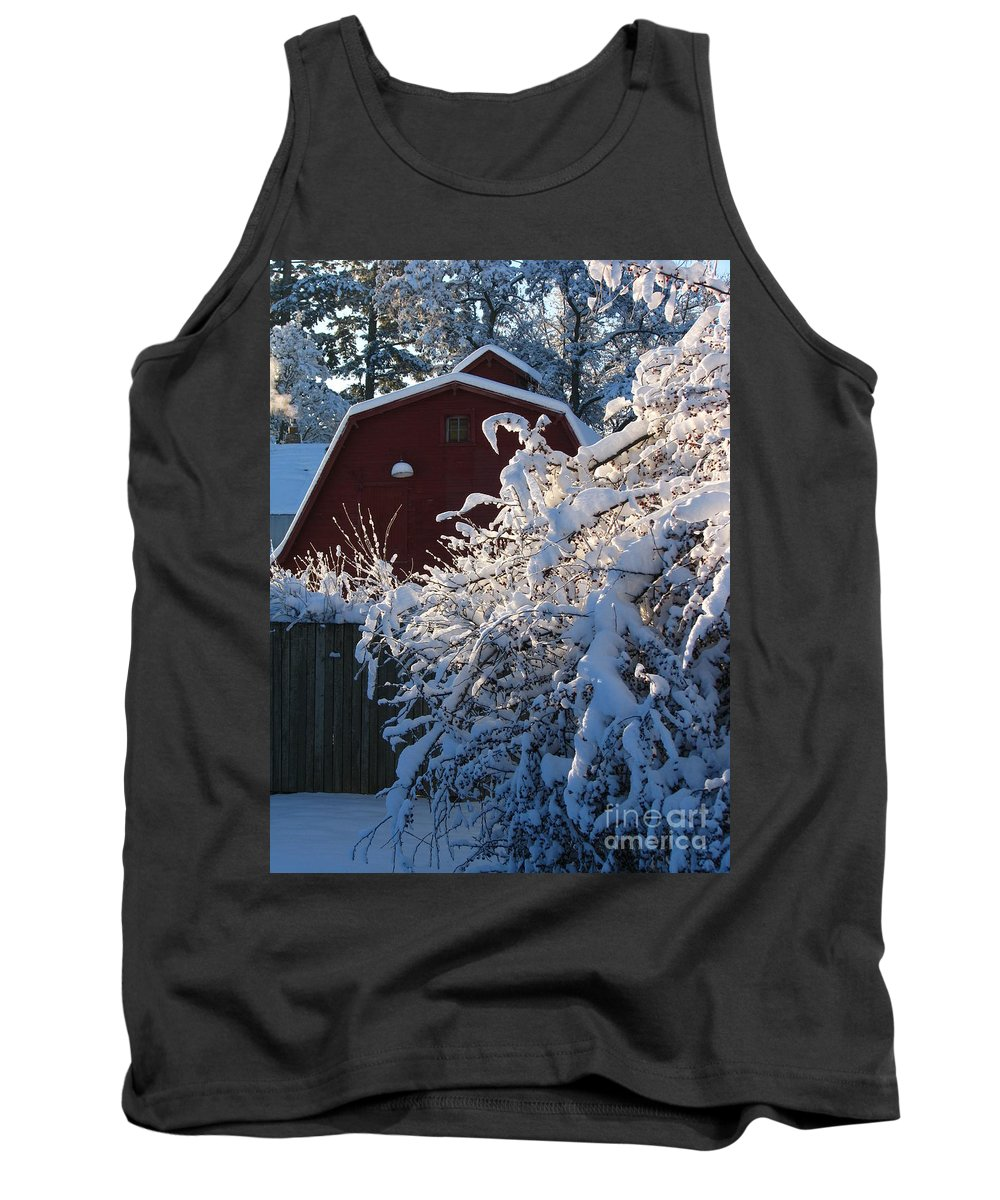 Patzer Tank Top featuring the photograph Winter Look by Greg Patzer