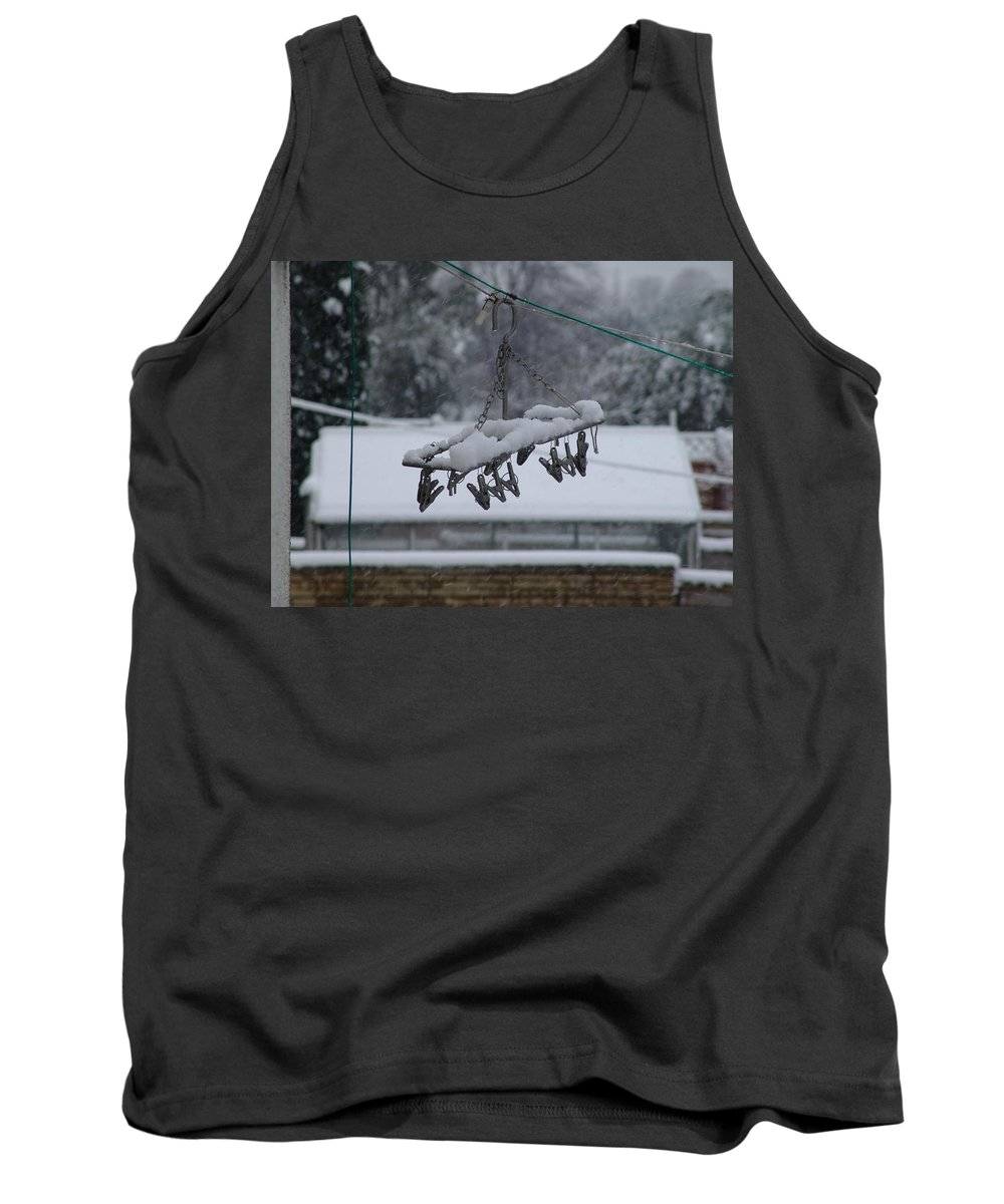 Snow Tank Top featuring the photograph Winter Pegs by Ashok Patel