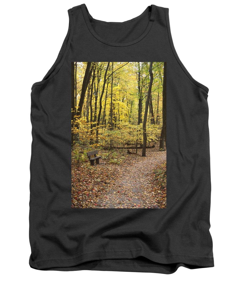 Autumn Tank Top featuring the photograph Woodland Respite by Bernard Lynch