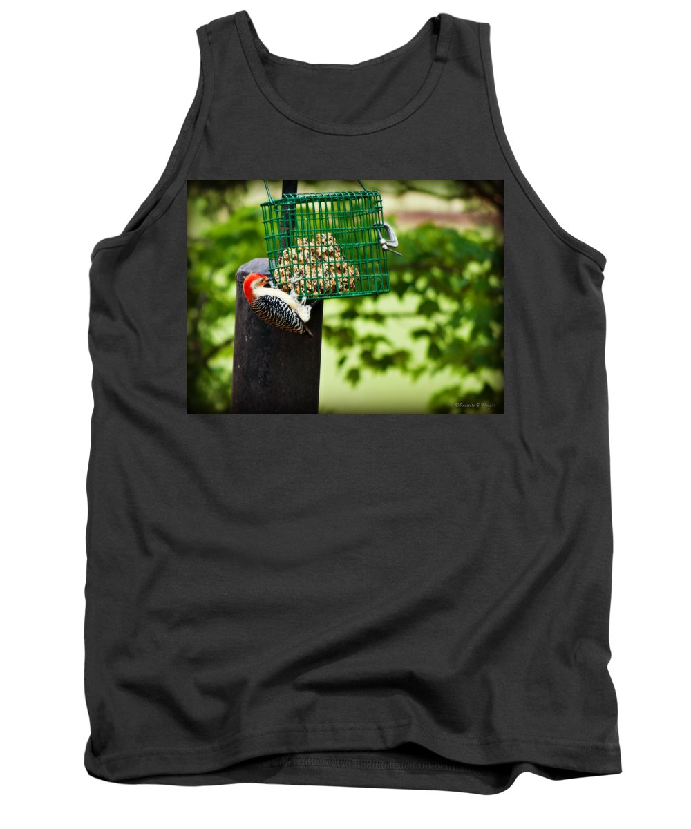 Nature Tank Top featuring the photograph Working For Your Lunch by Paulette B Wright