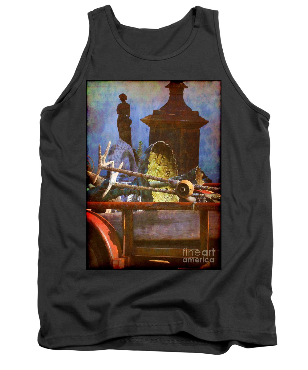 Yard Tank Top featuring the photograph Yard Art On The Move by Judi Bagwell