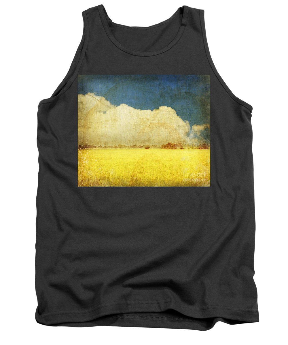 Abstract Tank Top featuring the photograph Yellow Field by Setsiri Silapasuwanchai