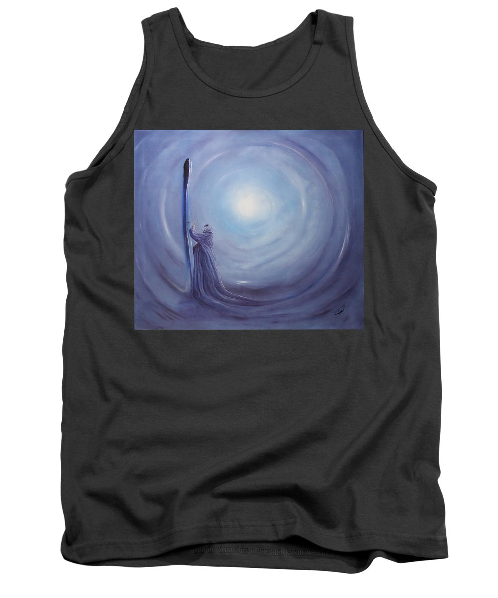 Woman Tank Top featuring the painting ---das Licht In Der Hand--- by Carola Eleonore Thiele
