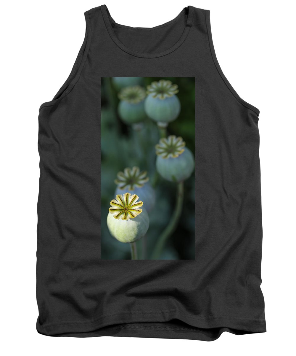 Poppy Tank Top featuring the photograph After The Flower 3 by Mo Barton