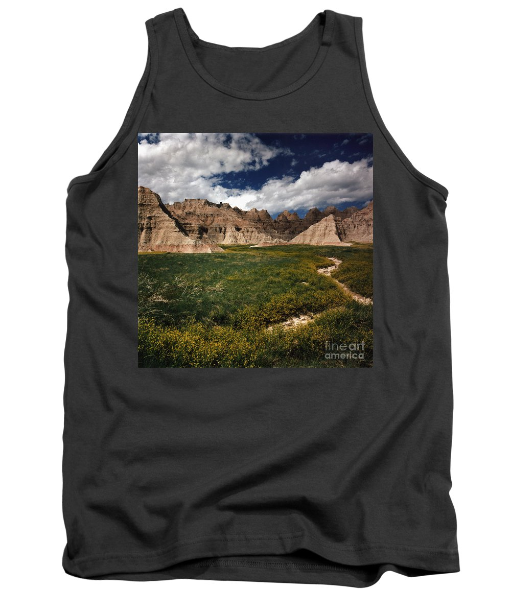 Badlands National Park Tank Top featuring the photograph Badlands by Ray Manning