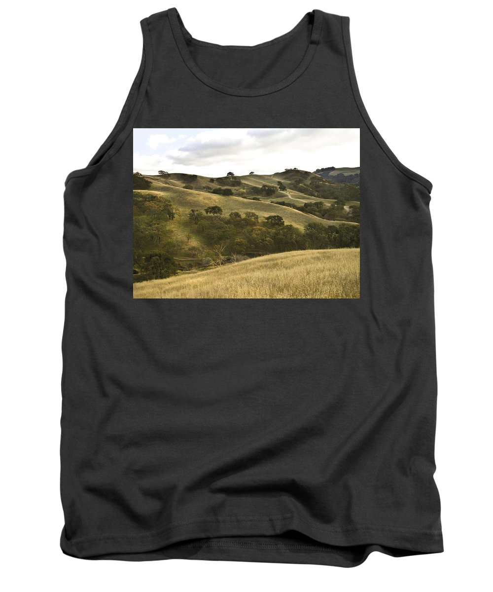 Landscape Tank Top featuring the photograph First Hill In Fall by Karen W Meyer