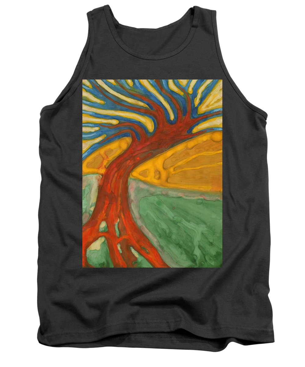 Colour Tank Top featuring the painting I Would Like To Be Me by Wojtek Kowalski