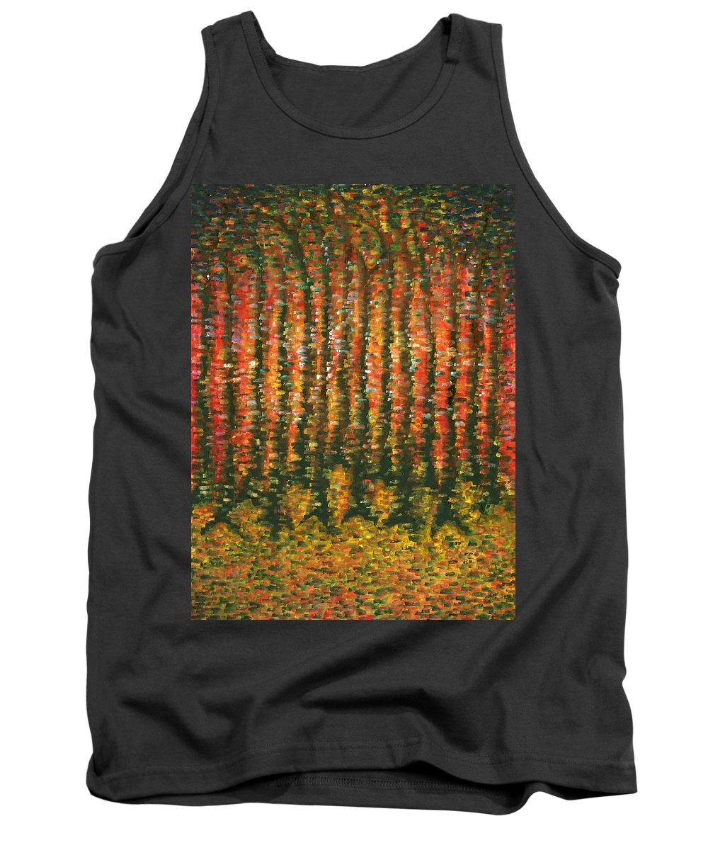 Colour Tank Top featuring the painting Sight Of World by Wojtek Kowalski
