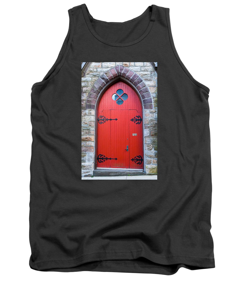 Carbon County Tank Top featuring the photograph Saint Mark's Episcopal Church Door by Barry Cruver