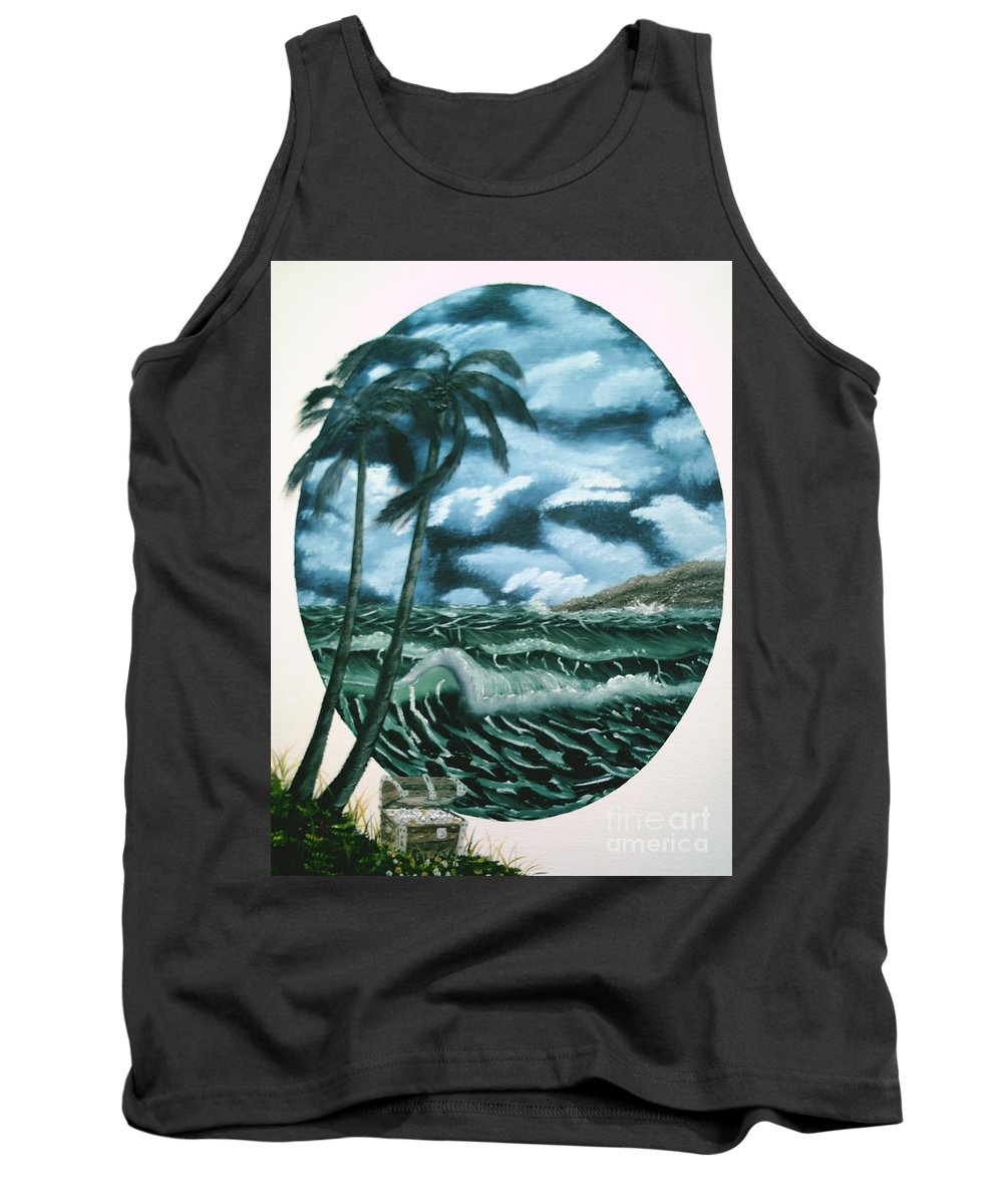 Seascape Tank Top featuring the painting Treasures Of The Sea by Jim Saltis