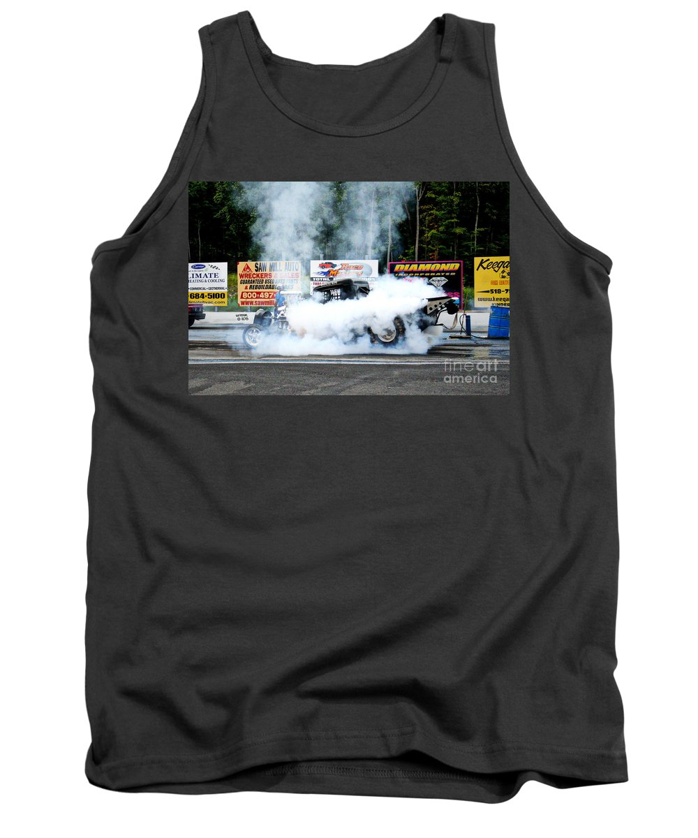 08-04-2013 Tank Top featuring the photograph 0056 08-04-2013 Lebanon Valley Dragway Night Of Fire by Vicki Hopper