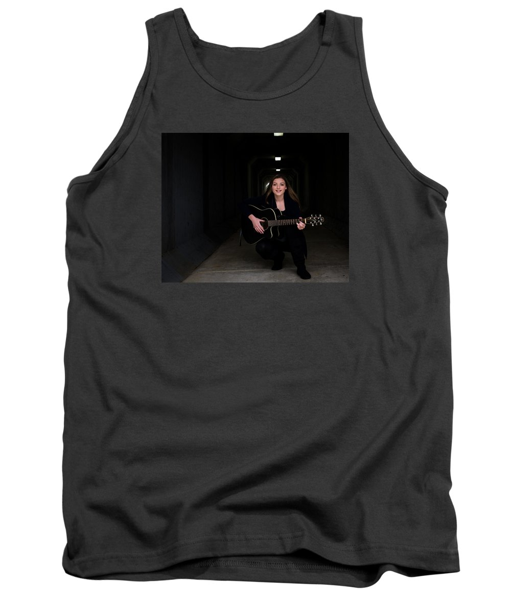 Musician Tank Top featuring the photograph 9549 by Teresa Blanton
