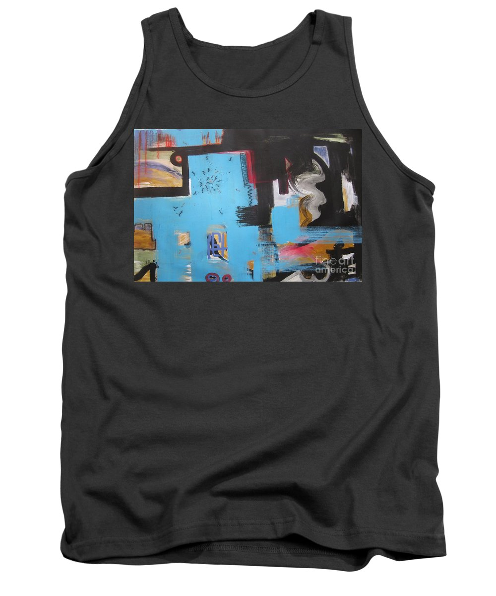 Abstract Tank Top featuring the painting A False Painting by Seon-Jeong Kim